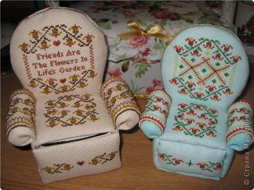 Графика компьютерная: Схема для вышивки кресла-игольницы. Фото 1