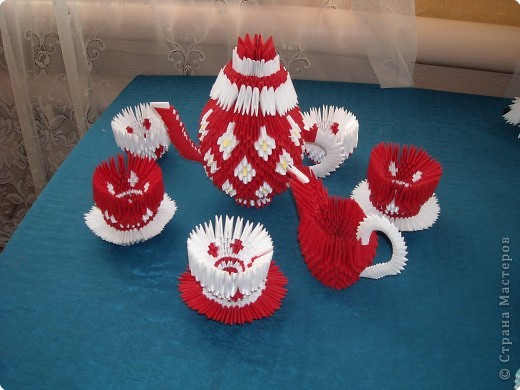 Модульные оригами сервиз