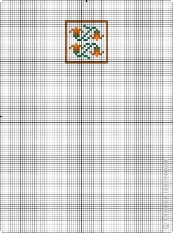 Графика компьютерная: Схема для вышивки кресла-игольницы. Фото 7