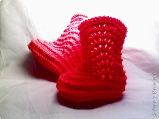 Вот такие сапожульки :))В зависимости от толщины нитки размеры получаются разными.. Фото 2