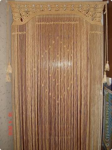 Интерьер, Мастер-класс, Макраме, : Шторка на дверь + МК Нитки . Фото 3