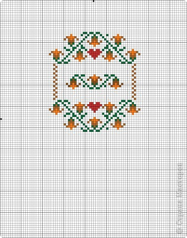 Графика компьютерная: Схема для вышивки кресла-игольницы. Фото 2