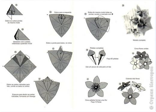 модульное оригами снеговик с описанием. как сложить треугольник для...