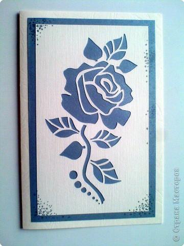 Открытка Вырезание: Роза , Свадьба и Тюльпаны! Бумага. Фото 1