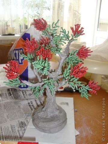 Мастер-класс Бисероплетение: МК - гипсовый ствол для бисерного дерева Бисер, Гипс. Фото 7