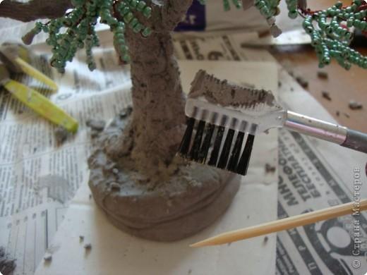 Мастер-класс Бисероплетение: МК - гипсовый ствол для бисерного дерева Бисер, Гипс. Фото 8
