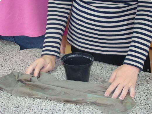 Лепка: Цветочный горшок. Фото 1