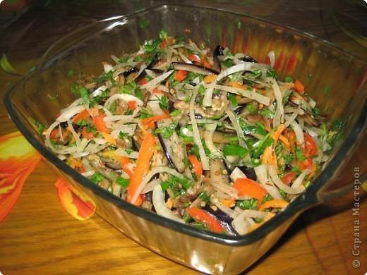 Рецепт кулинарный: баклажаны по-корейски