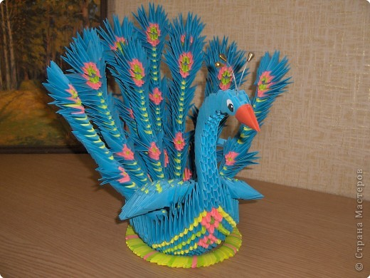Поделка, изделие Оригами модульное: Еще одна птица в Стране мастеров.  Бумага.  Фото 2.