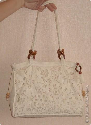 Вязание крючком, Шитьё: Летняя сумка