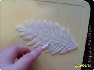 Мастер-класс Лепка: МК.листочек для оформления букета в моих картинах Тесто соленое. Фото 6