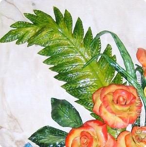 Мастер-класс Лепка: МК.листочек для оформления букета в моих картинах Тесто соленое. Фото 9