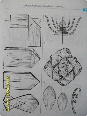 Поделка, изделие: розы из бересты Береста. Фото 3