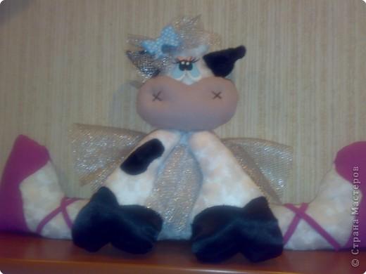 Игрушка Шитьё: Коровка-балерина. Ткань
