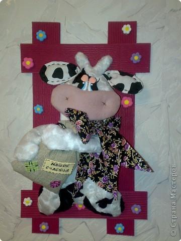 Игрушка Шитьё: СЧАСТливая коровка. Ткань
