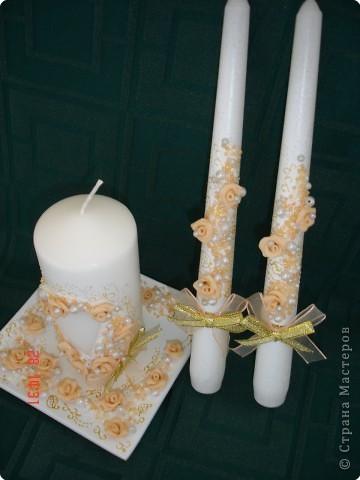 Мастер-класс: Свечи свадебные - МК Свечи Свадьба. Фото 1