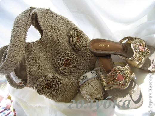 Вязаная летняя сумка крючком