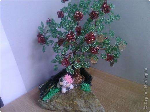 Бисероплетение: Денежно-розовое деревце МК