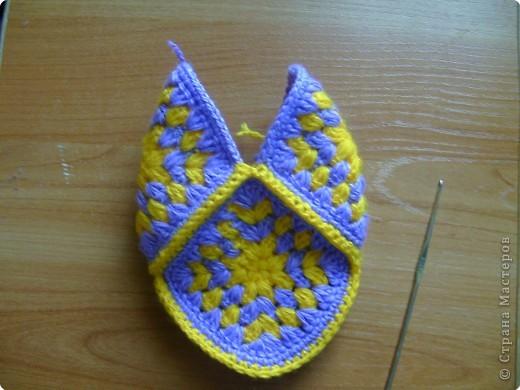 Мастер-класс,  Вязание крючком, : МК тапочки домашние  Нитки . Фото 13