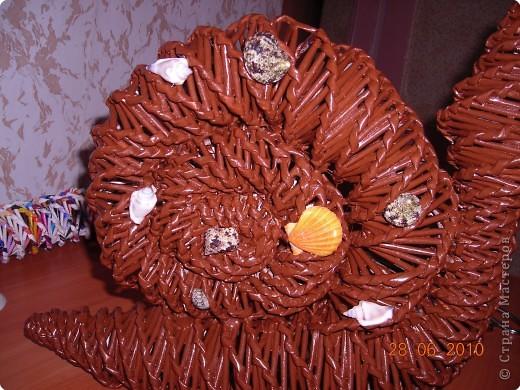 Плетение: Продолжаем украшать интерьер ...МК по плетению улитки из газетных трубочек.