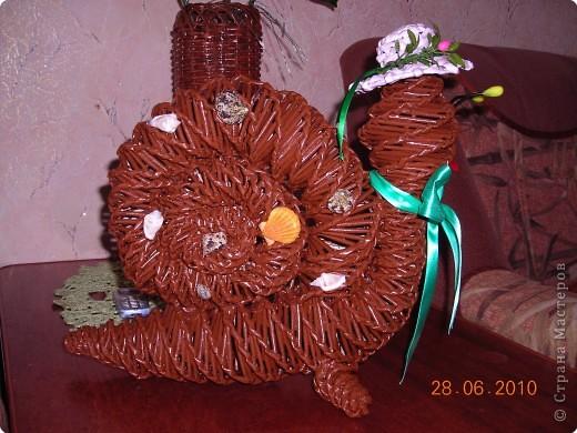 Плетение: Продолжаем украшать интерьер ...МК по плетению улитки из<br />газетных трубочек.