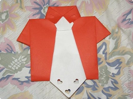 shirt with a tie (greeting card envelope)