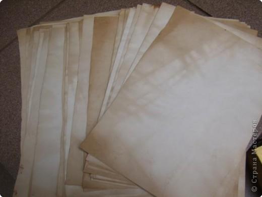Материалы и инструменты: Самодельная бумага Бумага, Материал природный, Чай. Фото 1