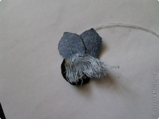 Мастер-класс Вырезание: Цветок из джинса №2+МК Ткань. Фото 11