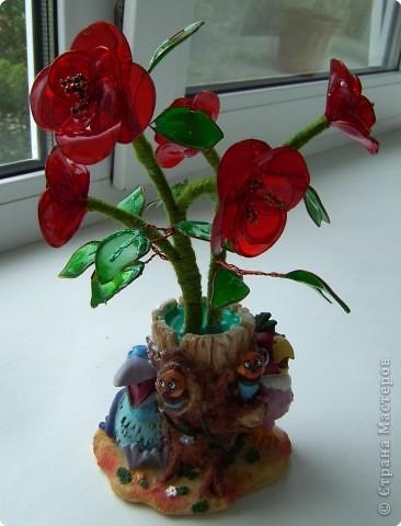 Поделка, изделие Витраж: Мои цветочки Краска, Проволока. Фото 3