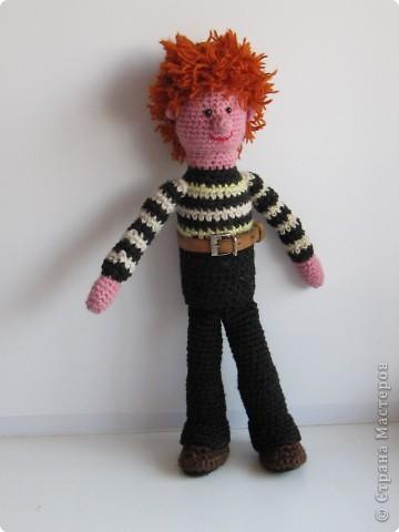 Игрушка Вязание крючком: Степка-растрепка Материал бросовый. Фото 1