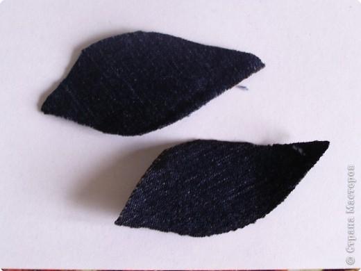 Мастер-класс Вырезание: Цветок из джинса + МК Ткань. Фото 4