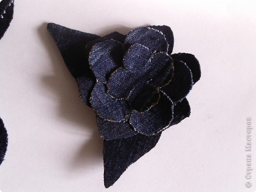 Мастер-класс Вырезание: Цветок из джинса + МК Ткань. Фото 10