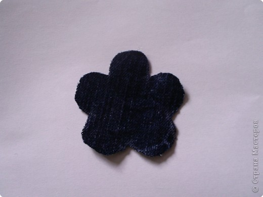 Мастер-класс Вырезание: Цветок из джинса + МК Ткань. Фото 7