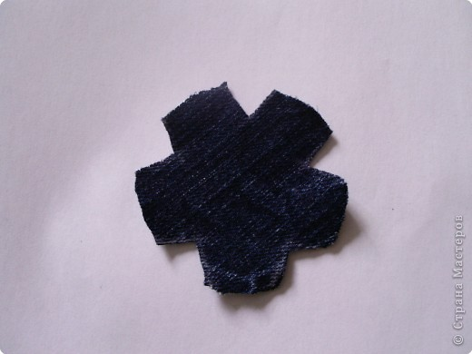 Мастер-класс Вырезание: Цветок из джинса + МК Ткань. Фото 5