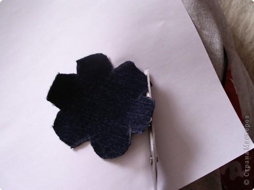 Мастер-класс Вырезание: Цветок из джинса + МК Ткань. Фото 6
