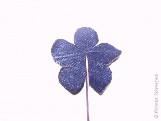 Мастер-класс Вырезание: Цветок из джинса + МК Ткань. Фото 8