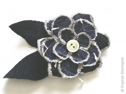 Мастер-класс Вырезание: Цветок из джинса + МК Ткань. Фото 1