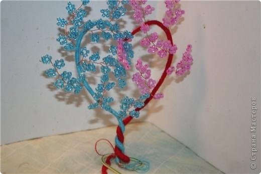 Мастер-класс Бисероплетение: Любимый бисер--Сердечное деревце Бисер. Фото 11