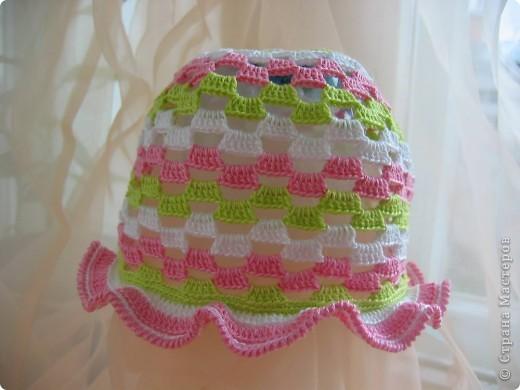 схема вязания крючком панамки для девочки 1 год.