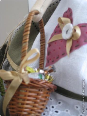 Игрушка Шитьё: кукла-грелка на чайник Грета Ткань. Фото 4
