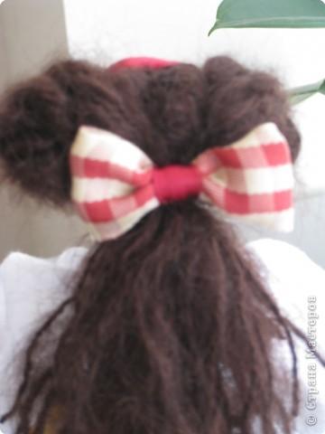 Игрушка Шитьё: кукла-грелка на чайник Грета Ткань. Фото 5