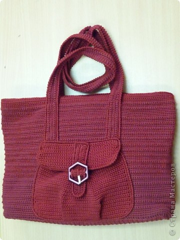 Украшение Вязание крючком: сумки вязаные крючком Нитки.  Фото 3.