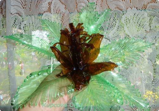 Поделка, изделие: Цветок из пластиковой бутылки№2 Бутылки. Фото 3