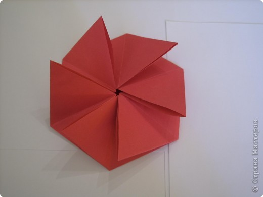 Мастер-класс Оригами: Пионы МК Бумага. Фото 25