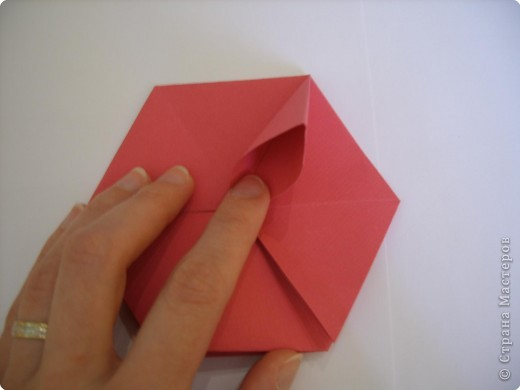 Мастер-класс Оригами: Пионы МК Бумага. Фото 26