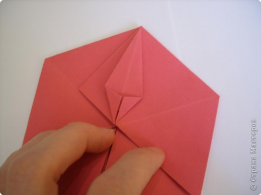 Мастер-класс Оригами: Пионы МК Бумага. Фото 30