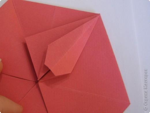 Мастер-класс Оригами: Пионы МК Бумага. Фото 31
