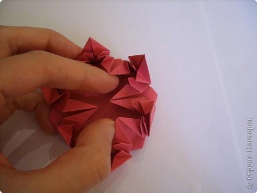 Мастер-класс Оригами: Пионы МК Бумага. Фото 39