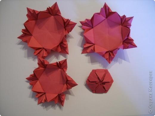 Мастер-класс Оригами: Пионы МК Бумага. Фото 41