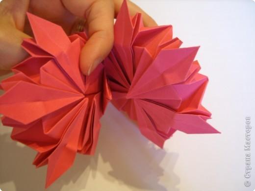 Мастер-класс Оригами: Пионы МК Бумага. Фото 45
